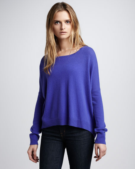 High-Low Hem Cashmere Sweater