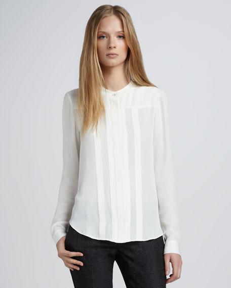 Silk Blouse, White