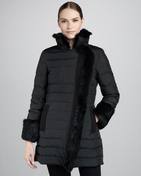 Kaia Fur-Trim Puffer Coat