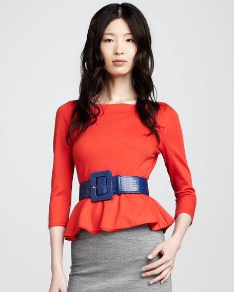 Patty Peplum Top