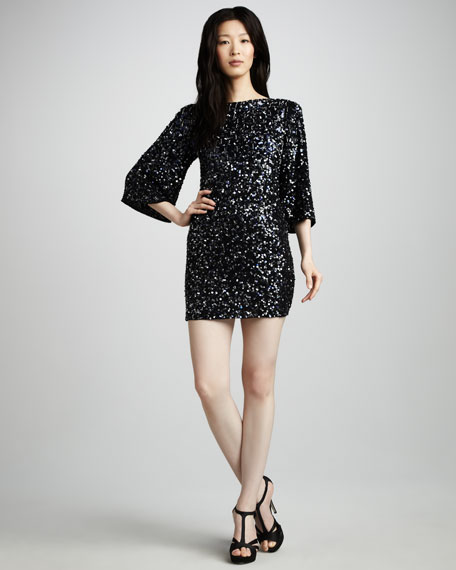 Liss Open-Back Sequined Dress