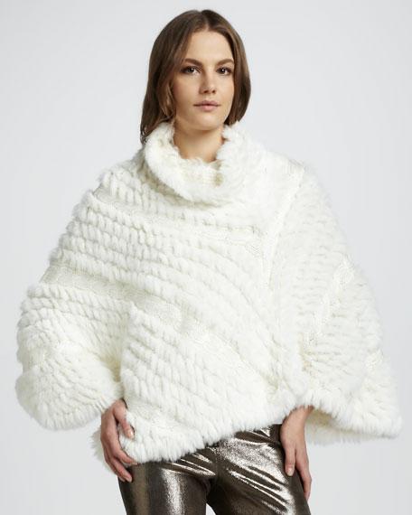 Lexy Fur Poncho