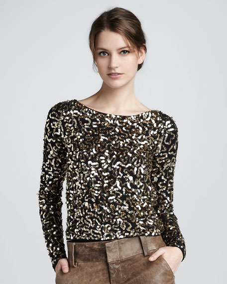 Pixie Sequined Top