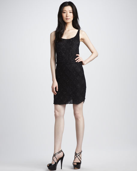 Gabby Sequined Tank Dress