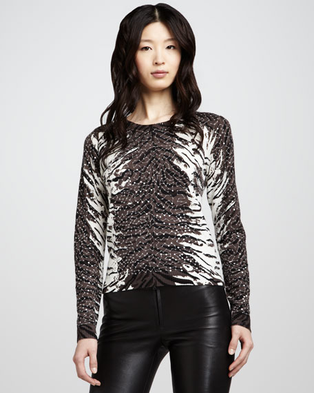Constance Tiger-Print Sweater