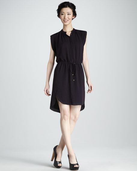 Drawstring Georgette Dress
