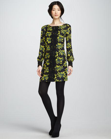 Avery Lace-Panel Dress