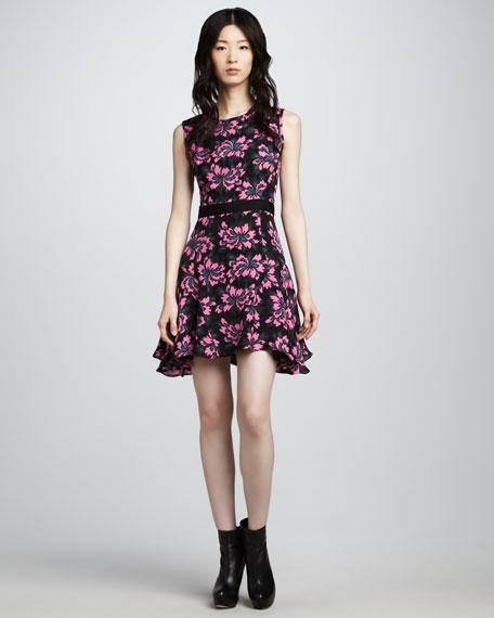 Siena Flounce-Skirt Dress