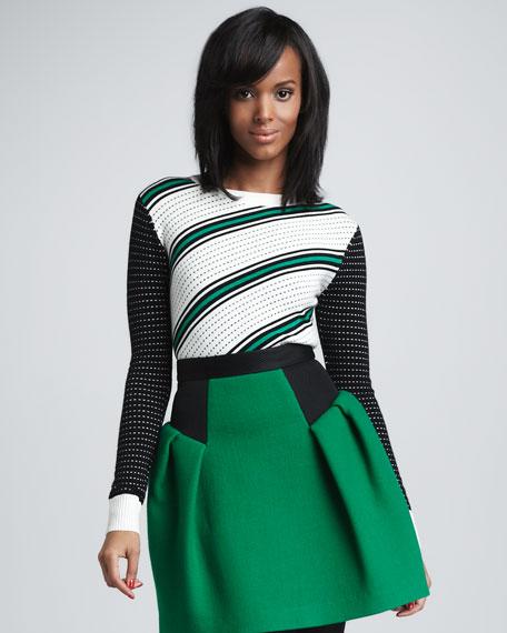 Dakota Dot-Stripe Sweater