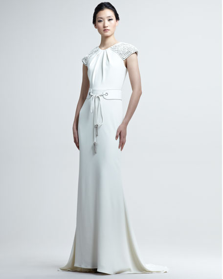 Belted Deco Gown