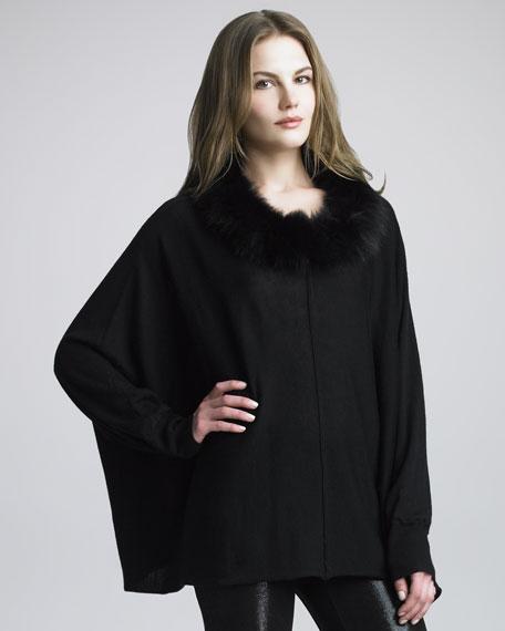 Abbot Fur-Collar Pullover