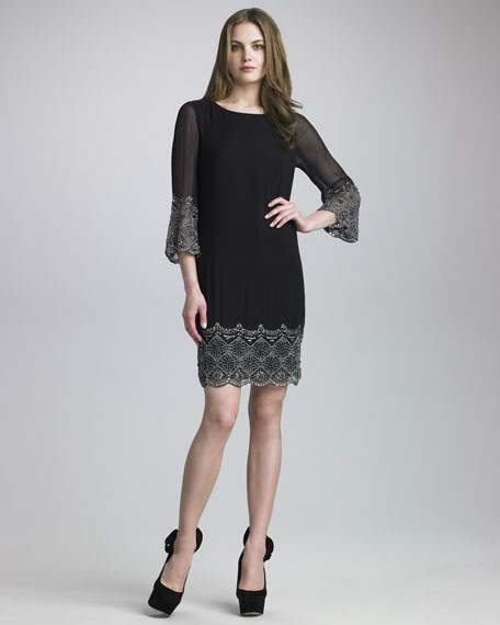 Liat Bell-Sleeve Dress