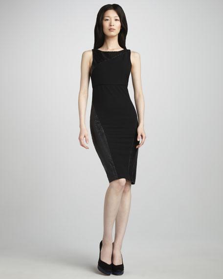 Belen Leather-Panel Dress