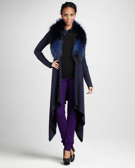 Emerson Fur-Collar Cardigan
