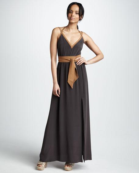Bell V-Neck Maxi Dress