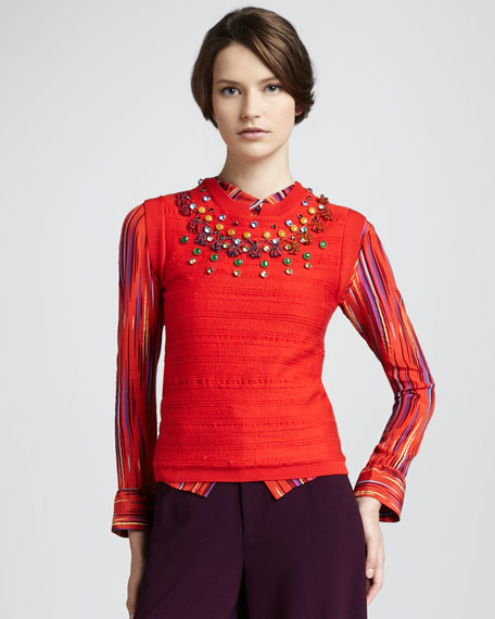 Scorpio Moon Beaded Top, Flame