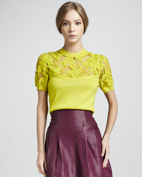 Hypnotize Me Pullover, Chartreuse
