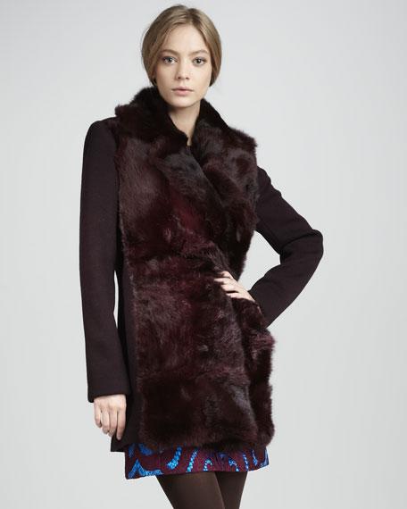 Mystical Fur-Front Coat