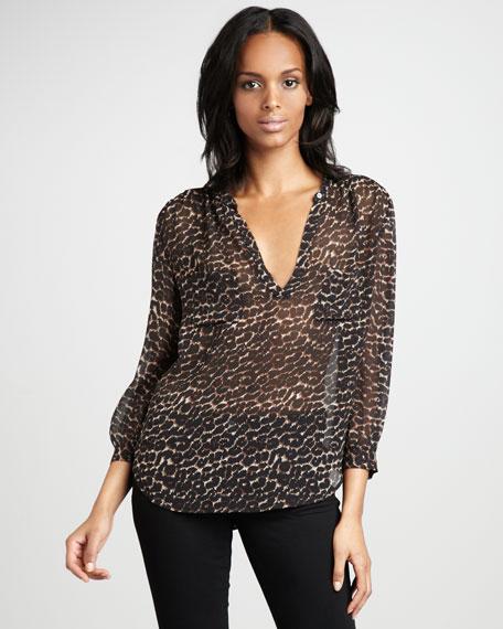 Adana Leopard Printed Top