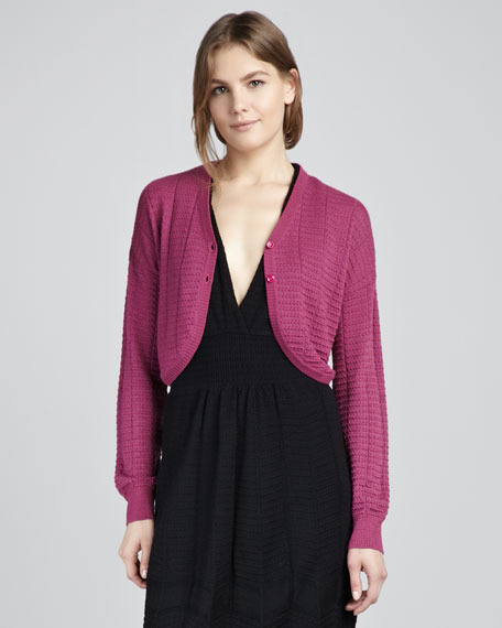 Ribbed Dot Cardigan