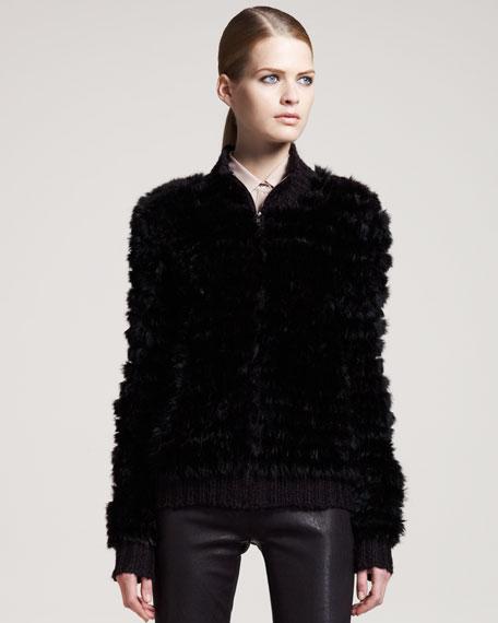 Fur Zip-Up Jacket
