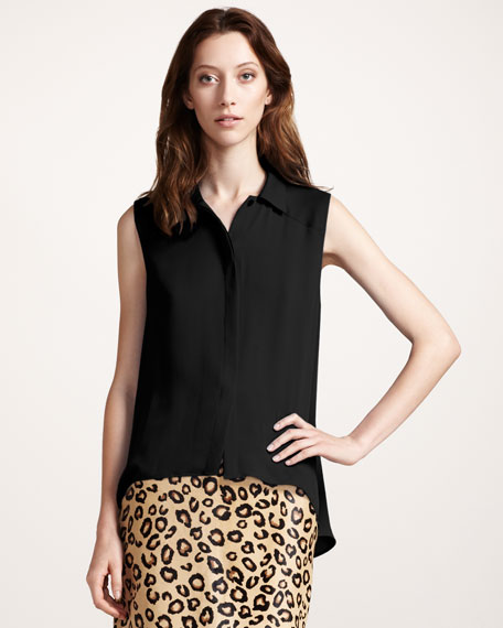Sleeveless Georgette Blouse