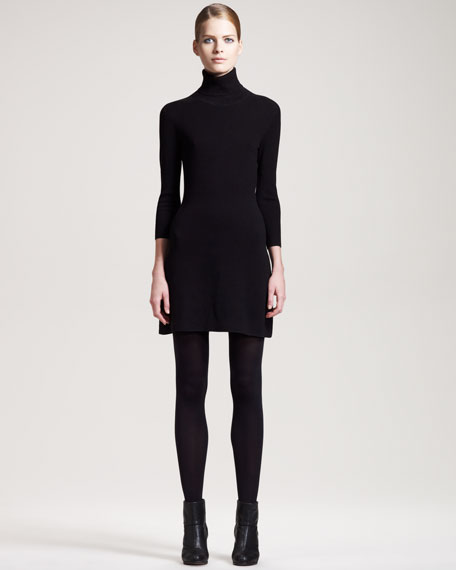 Stretch Turtleneck Dress