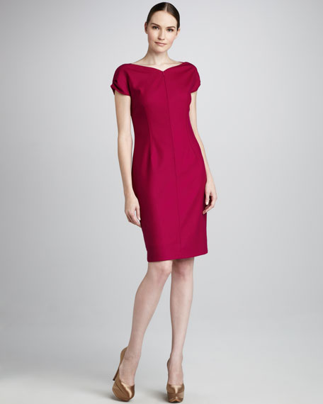 Melinda Reverse-Sheath Dress