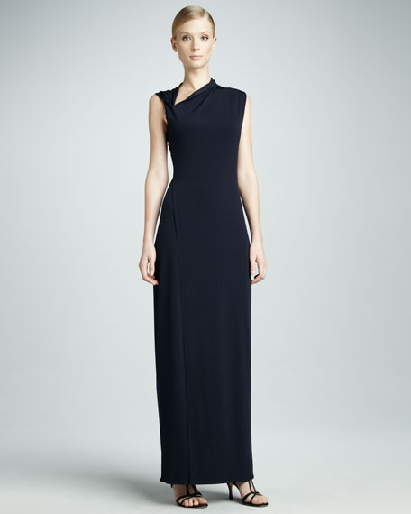 Jeanie Asymmetric Maxi Dress