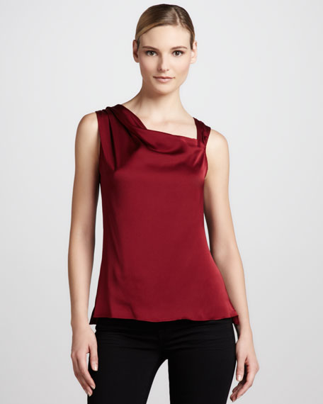Amanda Asymmetric Silk Blouse