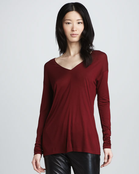 Loose V-Neck Tee