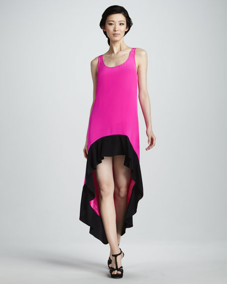 High-Low Colorblock Dress