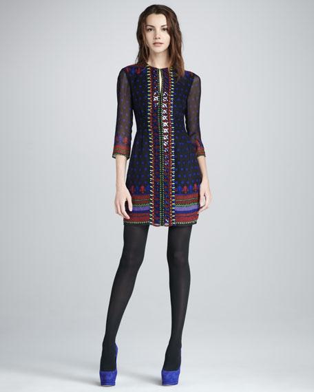 Dancin' Printed Silk Dress