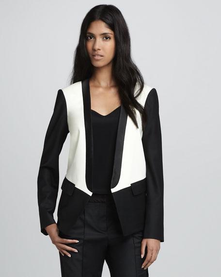 Colorblock Tuxedo Jacket