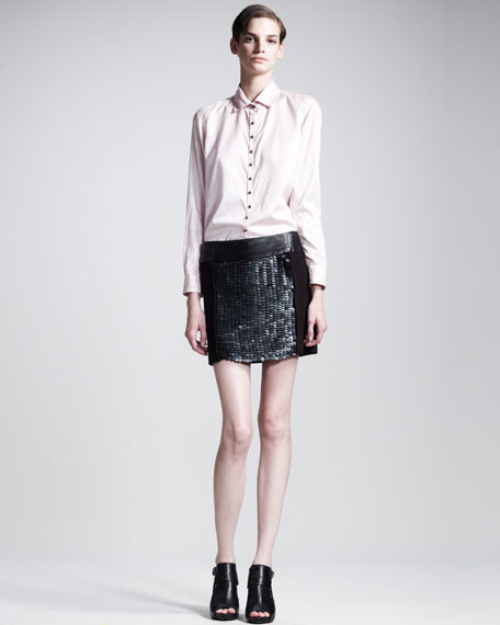 Caviar Sequined Miniskirt