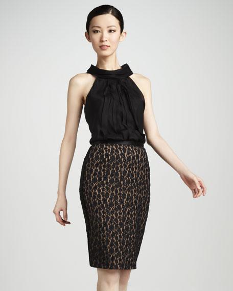 Beaded Animal-Lace Skirt