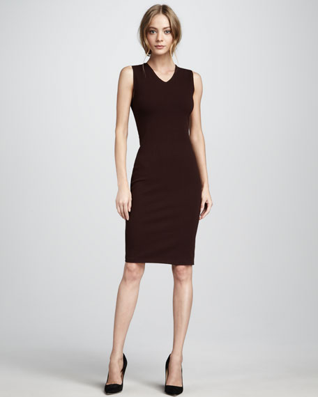 Fitted V-Neck Dress