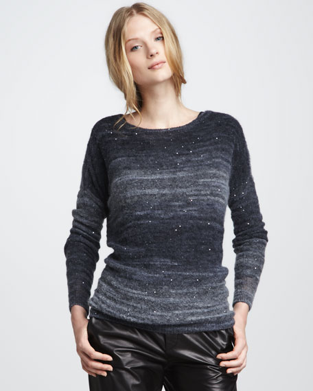 Sequined Sweater, Ocean