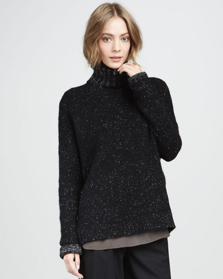 Specked Turtleneck Sweater