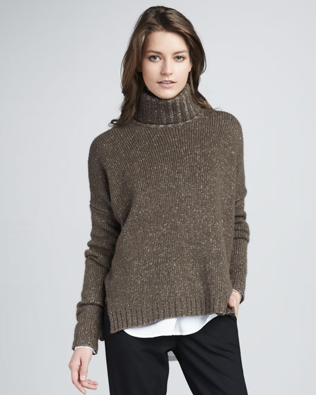 Speckled Turtleneck Sweater