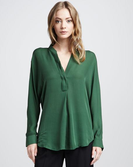 Silk Blouse, Evergreen