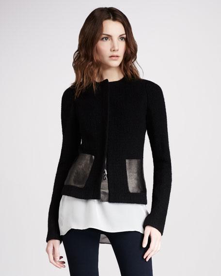 Leather-Pocket Jacket