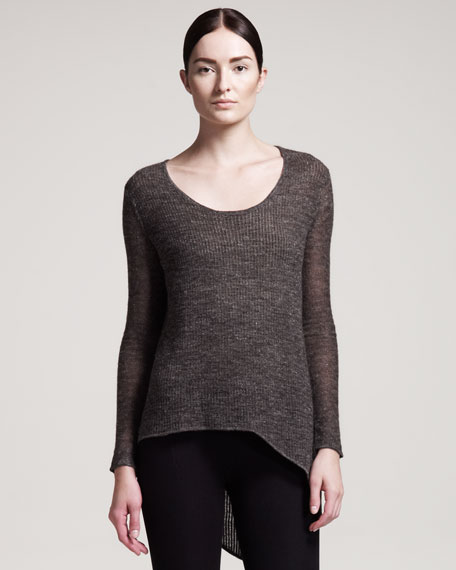 Alpaca-Blend Scoop-Neck Top