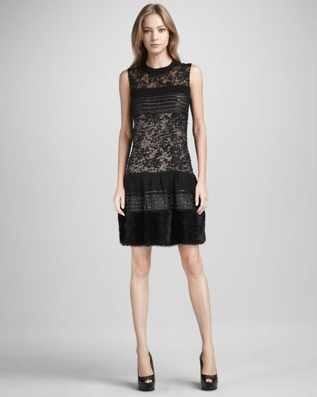Alty Astra Novelty Mixed-Media Dress
