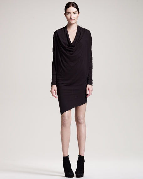 Jersey Dolman-Sleeve Dress