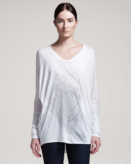 Net-Print Long-Sleeve Tee