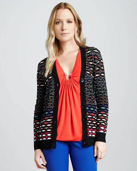 Diamond Striped Cardigan
