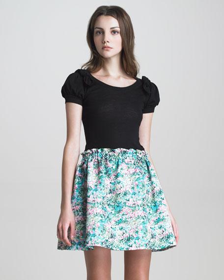A-Line Floral-Print Skirt