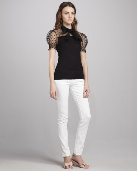 Slim Jeans, White