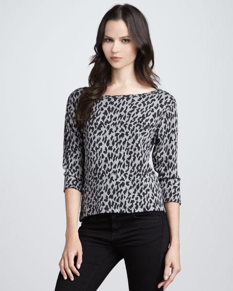 Shina Leopard-Print Top